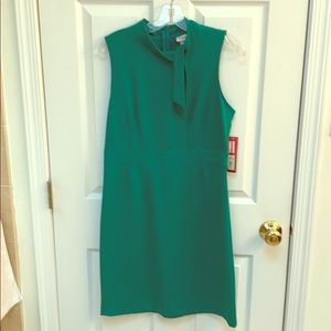 Kelly green cotton fitted dress